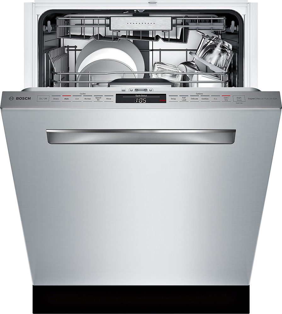 """Bosch SHPM98W75N 800 Series 24"""" Pocket Handle Dishwasher with Stainless Steel Tub"""