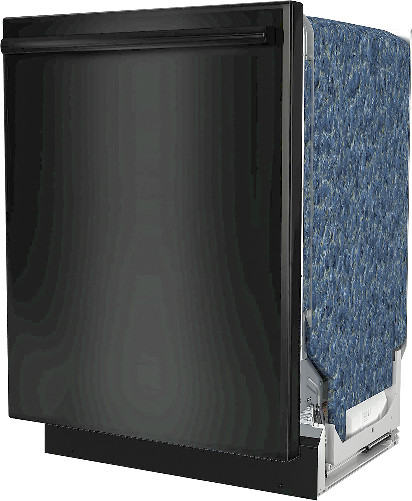 "Bosch SHXM78W56N 800 Series 24"" Bar Handle Dishwasher with Stainless Steel Tub Black"