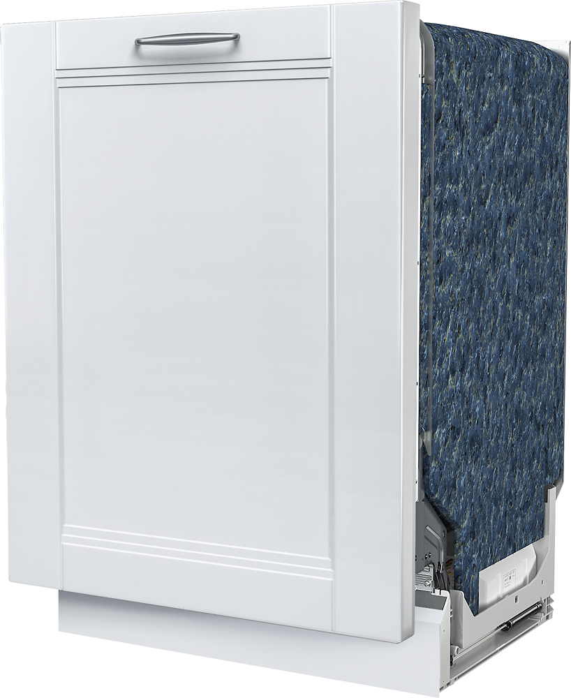 """Bosch SHVM63W53N 300 Series 24"""" Custom Panel Dishwasher with Stainless Steel Tub Ready"""