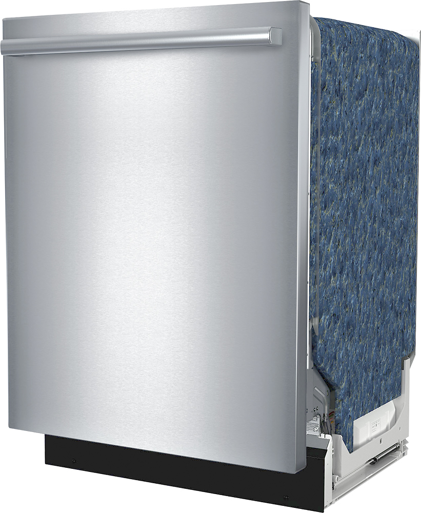 "Bosch SHXM63WS5N 300 Series 24"" Bar Handle Dishwasher with Stainless Steel Tub"