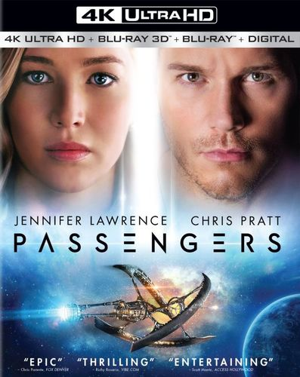 Passengers [4K Ultra HD Blu-ray] [3D] [Blu-ray] [4K Ultra HD Blu-ray/Blu-ray/Blu-ray 3D] [2016] 5710356