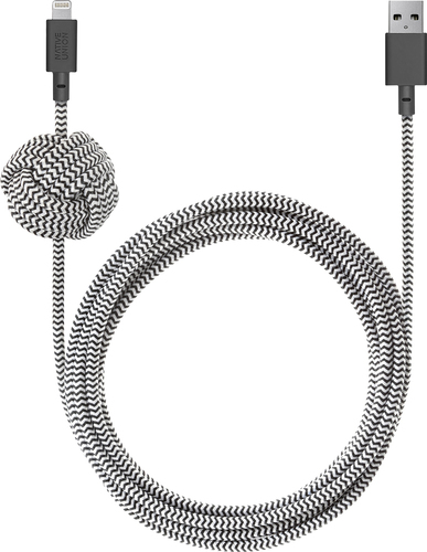 Native Union 10' Lightning Night Cable with Weighted Knot - Zebra