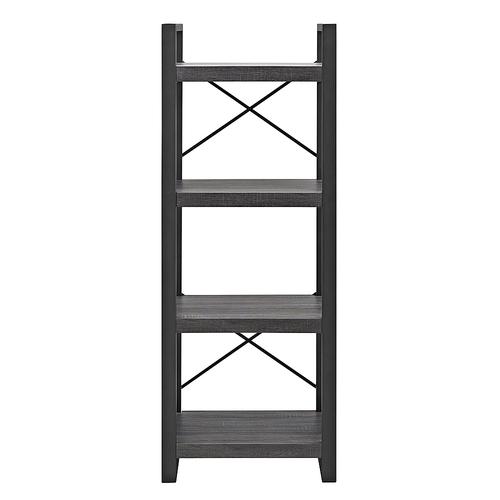 Walker Edison 4-Shelf Industrial Multilevel Audio Media Storage Tower - Charcoal