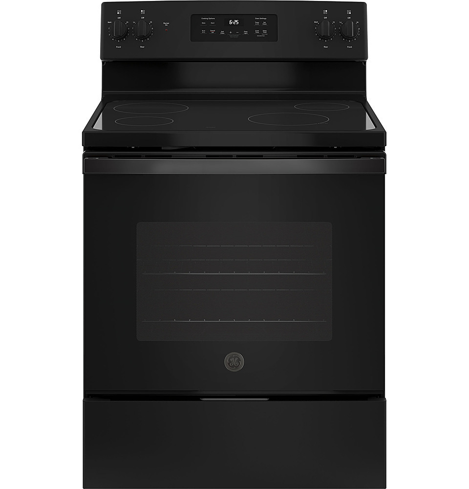 GE JB625DKBB 5.3 Cu. Ft. Self-Cleaning Freestanding Electric Range Black