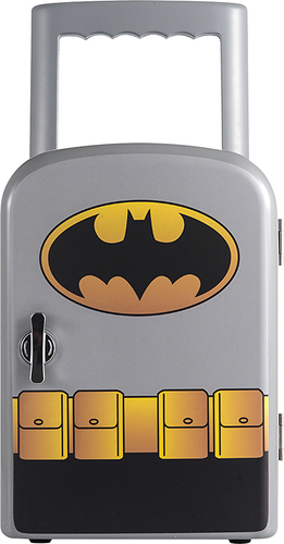 Batman - 0.1 Cu. Ft. Compact Refrigerator - Gray
