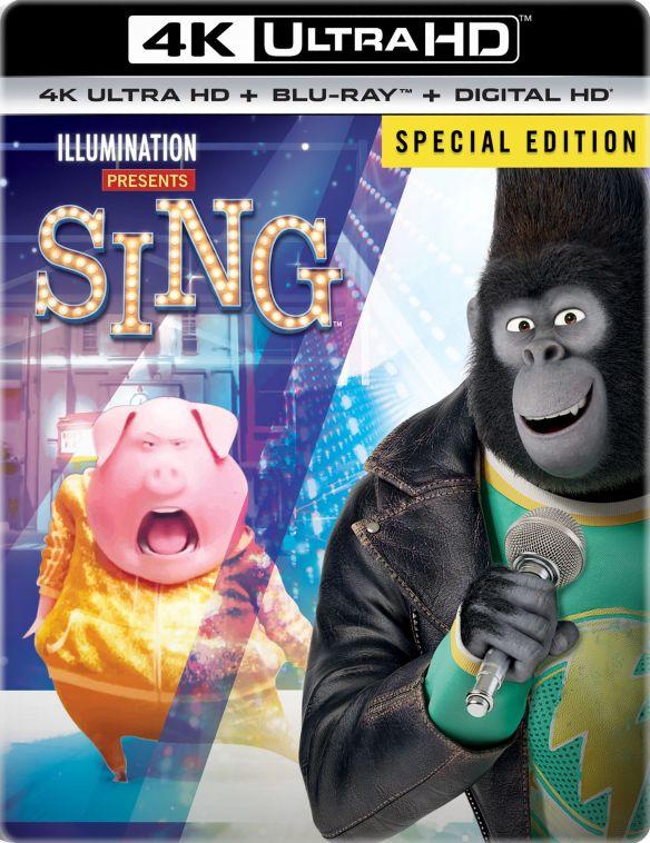 Sing [SteelBook] [Includes Digital Copy] [4K Ultra HD Blu-ray/Blu-ray] [Only @ Best Buy] [2016] 5711711
