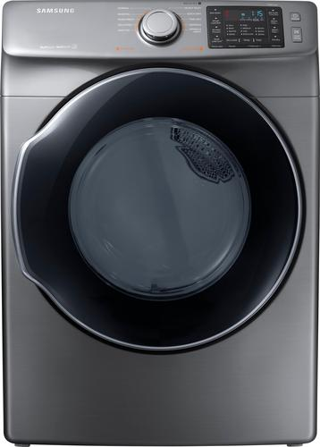 Samsung - 7.5 Cu. Ft. 10-Cycle Electric Dryer with Steam - Platinum