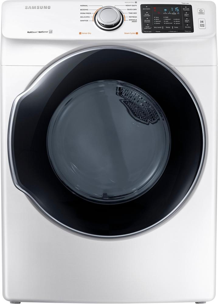 Samsung 7.5 Cu. Ft. 10-Cycle Gas Dryer with Steam White DVG45M5500W
