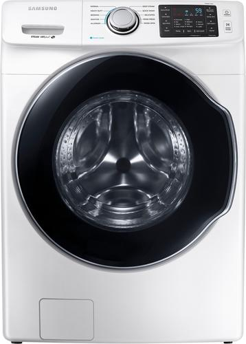Samsung - 4.5 Cu. Ft. 10-Cycle High-Efficiency Front-Loading Washer with Steam - White 5712036