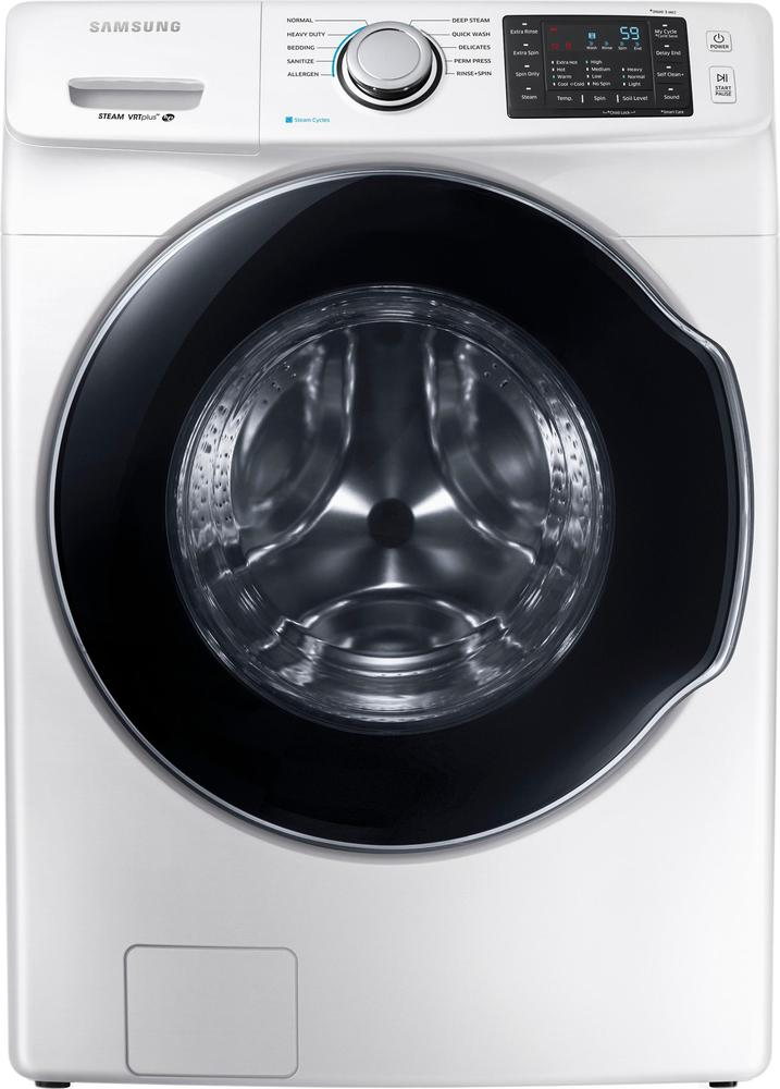 Samsung 4.5 Cu. Ft. 10-Cycle Front-Loading Washer with Steam White WF45M5500AW