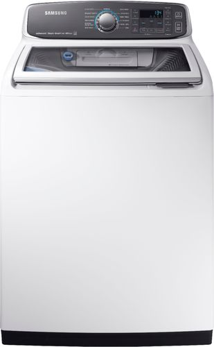 Samsung - Activewash 5.2 Cu. Ft. 13-Cycle High-Efficiency Top-Loading Washer with Steam - White