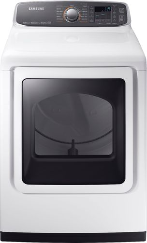 Samsung - 7.4 cu. ft. Capacity Electric Dryer - White