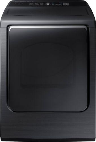 Samsung - 7.4 cu. ft. Capacity DOE Electric Dryer - Black Stainless Steel
