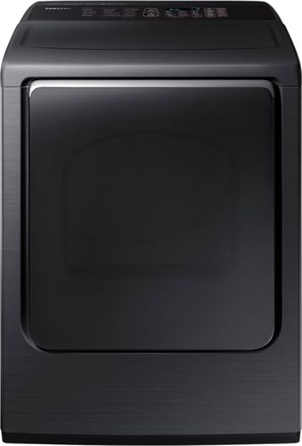 Samsung - 7.4 Cu. Ft. 12-Cycle High-Efficiency Electric Dryer with Steam - Fingerprint Resistant Black Stainless Steel