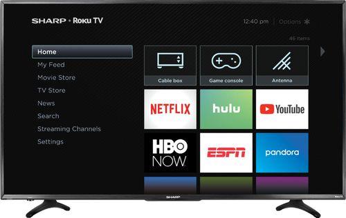 "Sharp - 55"" Class - LED - 2160p - Smart - 4K UHD TV with HDR Roku TV"
