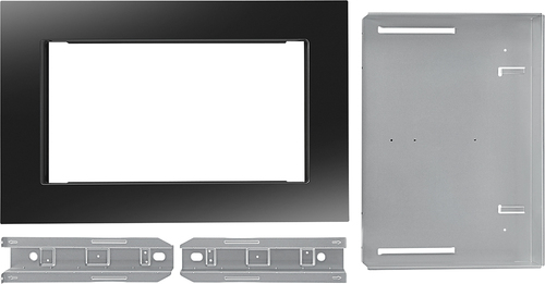 Whirlpool - 26.9  Trim Kit for Microwaves - Black Compatible with select microwaves; black finish; built-in appearance