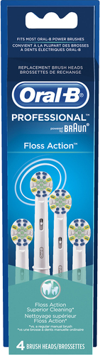 Image of Oral-B - FlossAction Replacement Brush Heads (4-Pack) - White