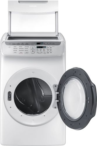 Samsung - 7.5 cu. ft. capacity 13-Cycle FlexDry Gas Dryer with MultiSteam - White Two dryers in one give you the flexibility to dry delicates and everyday garments at the same time