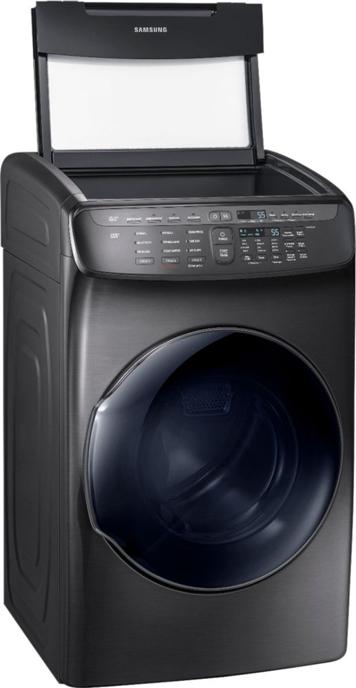 Samsung DVE55M9600V 7.5 cu. ft. Capacity FlexDry Electric Dryer Black Stainless Steel