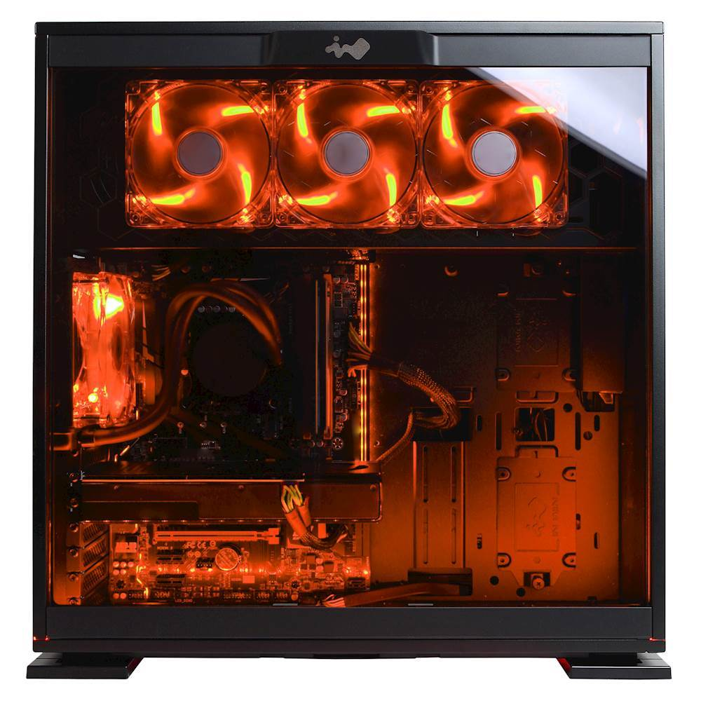 CyberPowerPC SLC8460B Gamer Supreme Desktop Intel Core i7 32GB Memory AMD Radeon RX 480 512GB Solid State Drive + 3TB Hard Black/orange