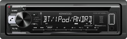 Kenwood - In-Dash CD/DM Receiver - Built-in Bluetooth with Detachable Faceplate - Black
