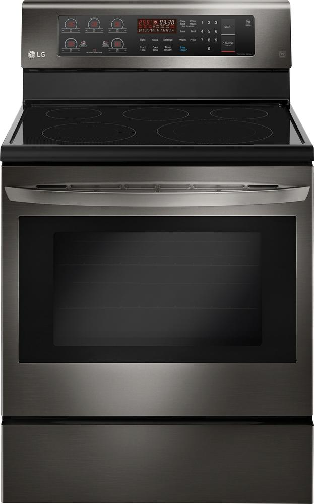 LG 6.3 Cu. Ft. Freestanding Electric Convection Range Black Stainless Steel LRE3193BD