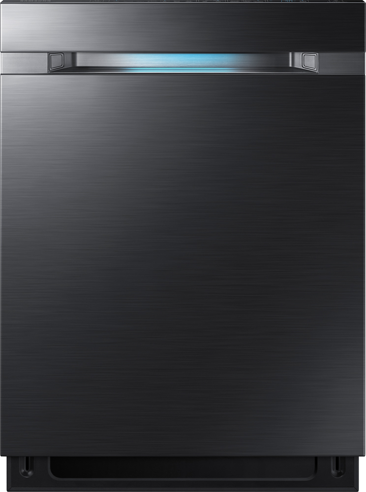 """Samsung Waterwall 24"""" Top Control Tall Tub Built-In Dishwasher Black stainless steel DW80M9550UG"""