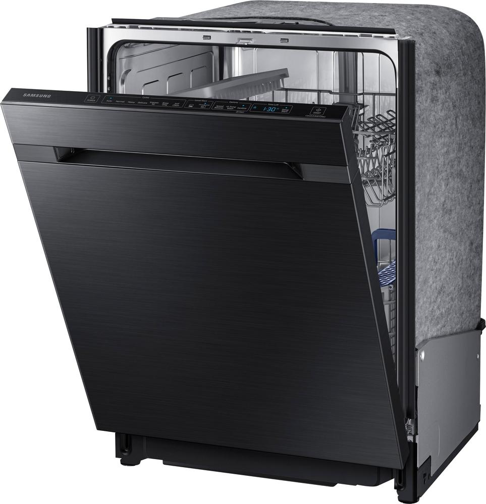 """Samsung DW80M9550UG Waterwall 24"""" Top Control Tall Tub Built-In Dishwasher Black stainless steel"""