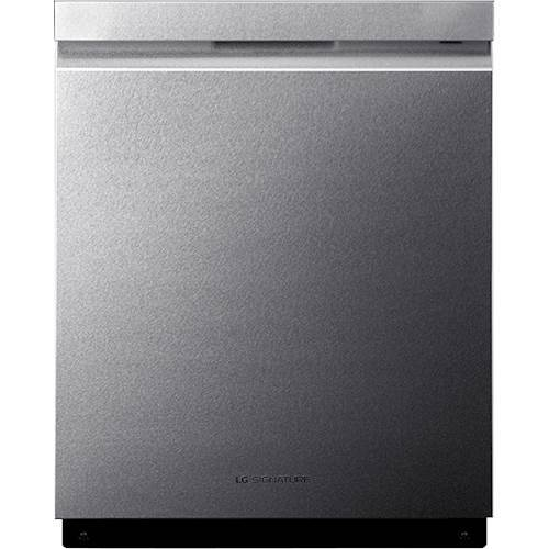 "LG - 24"" Top Control Built-In Dishwasher with Stainless Steel Tub - Textured steel 5714452"
