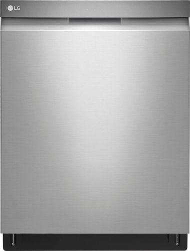 "LG - 24"" Top Control Built-In Dishwasher with QuadWash and Stainless Steel Tub - Stainless steel 5714463"