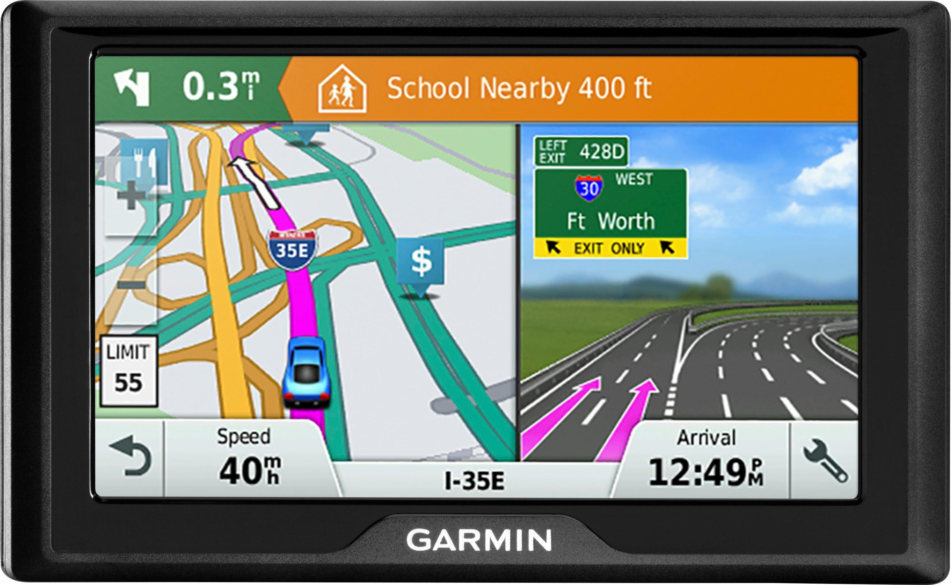 "Garmin - Drive 51 LM 5"" GPS with Lifetime Map Updates - Black"