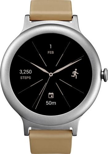 LG - Watch Style Smartwatch 42.3mm Stainless Steel - Silver
