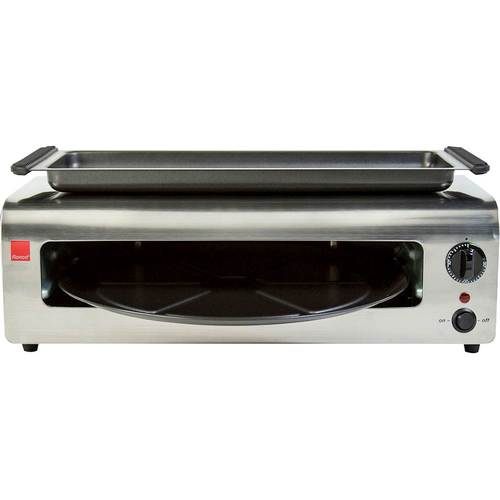 Ronco - Pizza & More™ Pizza Oven - Red and Stainless Steel 5728608