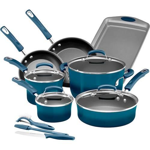 Rachael Ray - 14-Piece Cookware Set - Marine Blue 5728621