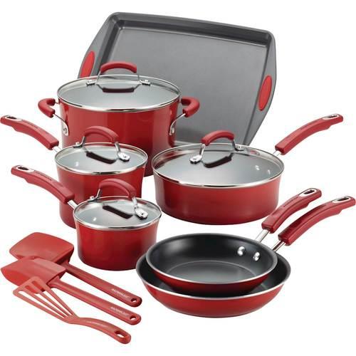 Rachael Ray - 14-Piece Cookware Set - Red 5728626