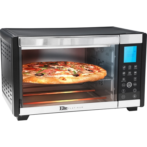Elite - Convection Toaster/Pizza Oven - Black/silver 5728810