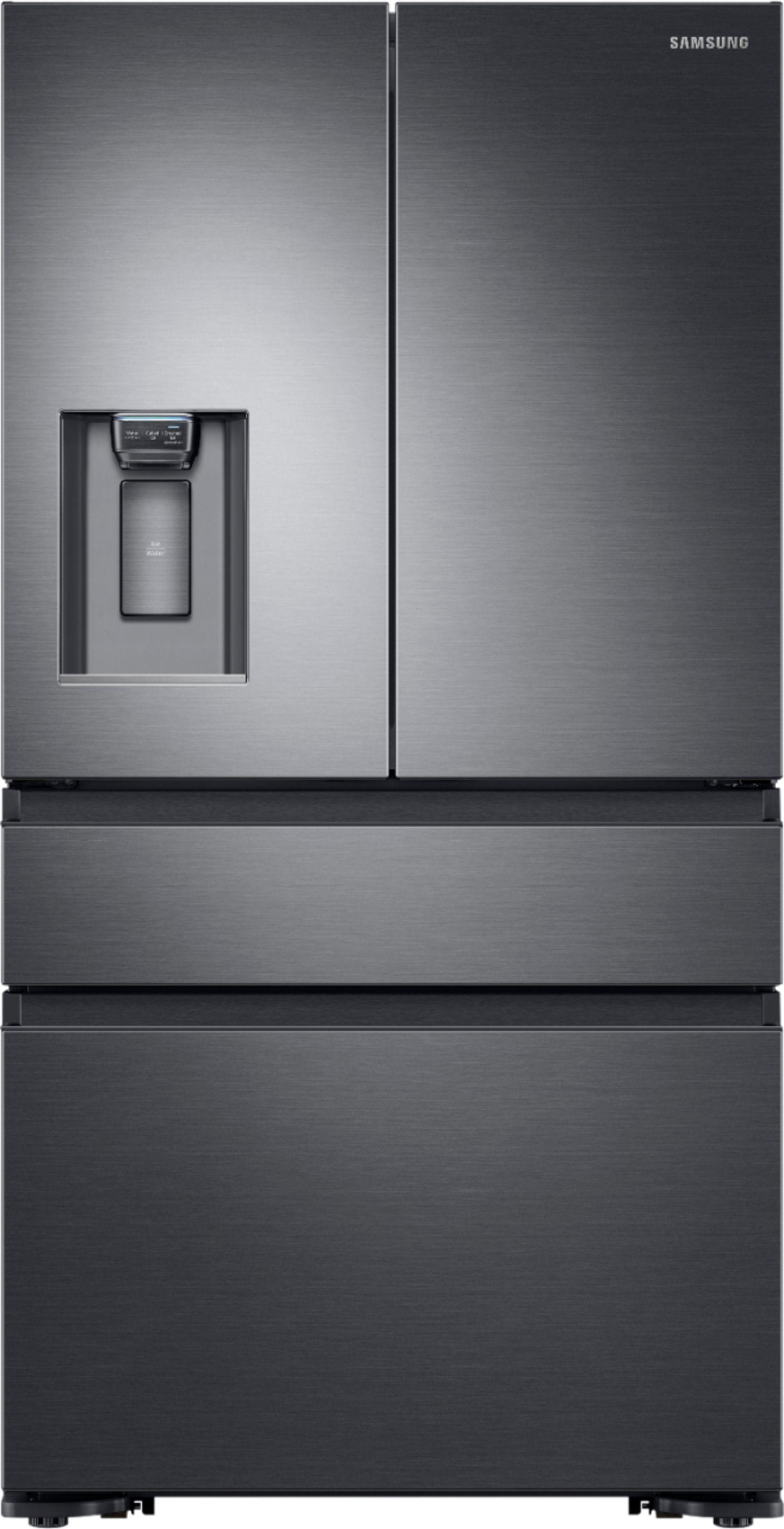 Samsung 22.7 Cu. Ft. 4-Door Flex French Door Counter-Depth Refrigerator Black stainless steel RF23M8070SG