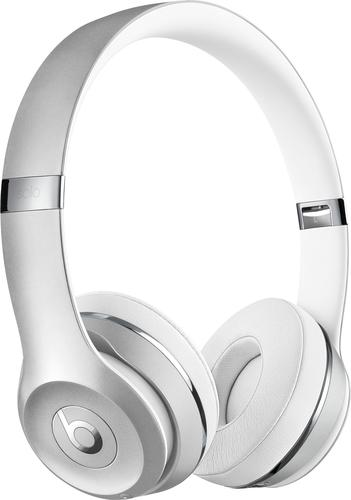 Beats by Dr. Dre - Geek Squad Certified Refurbished Beats Solo3 Wireless Headphones - Silver