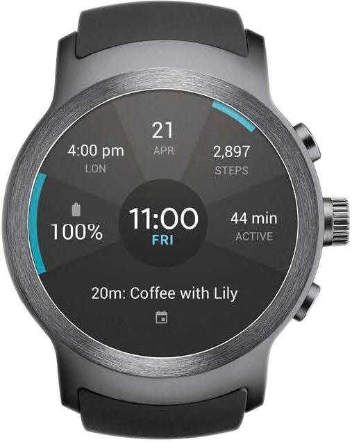 LG - Watch Sport Smartwatch 45.4mm Titan Silver AT & T - Titan silver