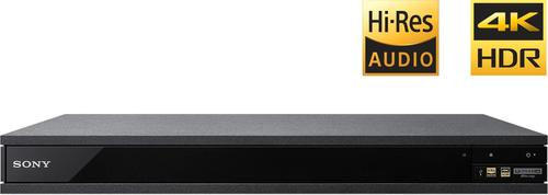Sony - UBP-X800 - Streaming 4K Ultra HD 3D Hi-Res Audio Wi-Fi Built-In Blu-ray Player - Black