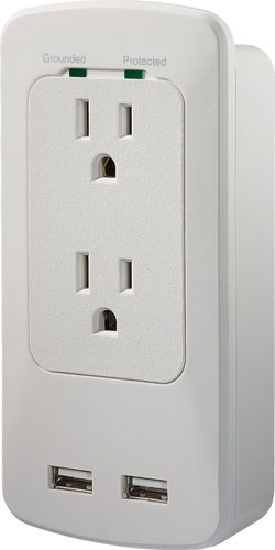 Insignia™ - 2-Outlet/2-USB...