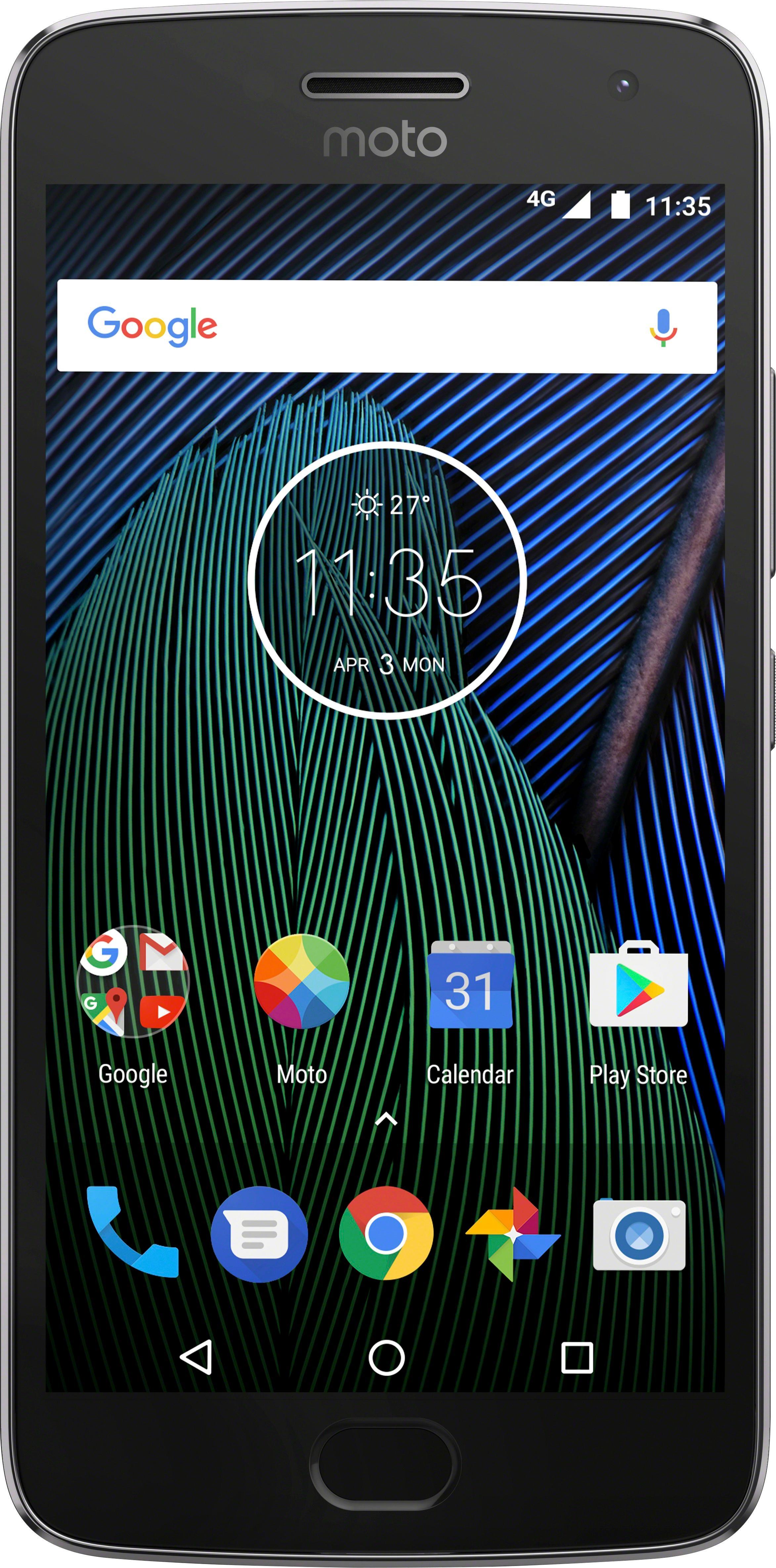 Motorola - Moto G Plus (5th Gen) 4G LTE with 32GB Memory Cell Phone (Unlocked) - Lunar Gray 5762700
