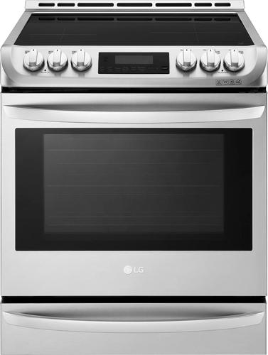 LG LSE4617ST - Range - built-in - niche - width: 24 in - depth: 25 in - height: 36 in - with self-cleaning - stainless steel