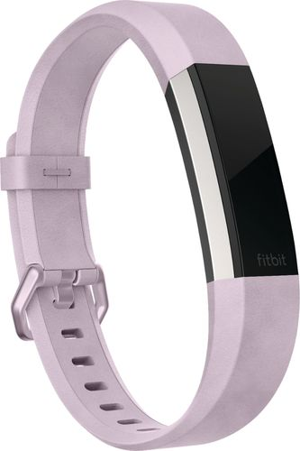 Fitbit - Alta HR Accessory Band Leather (Large) - Lavender
