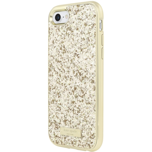 kate spade new york Glitter - Back cover for cell phone - gold, gold logo plate - for Apple iPhone 7