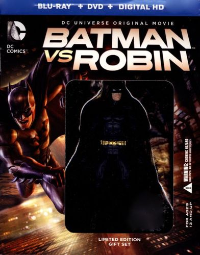 Batman vs. Robin [2 Discs] [Includes Digital Copy] [UltraViolet] [With Figurine] [Blu-ray/DVD] [2015] 5782021