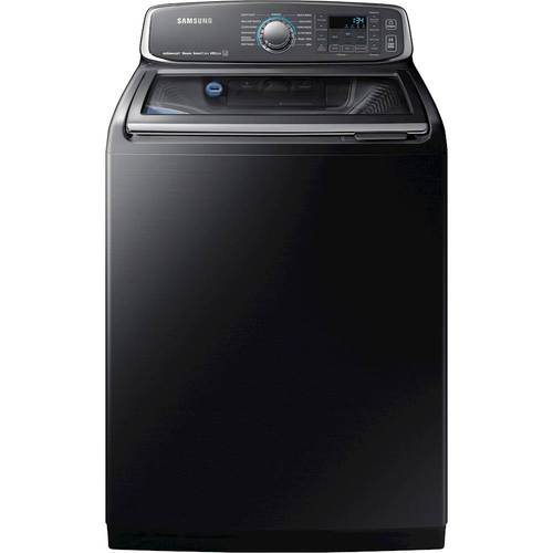 Samsung - activewash 5.2 Cu. Ft. 13-Cycle High-Efficiency Top-Loading Washer with Steam - Black stainless steel