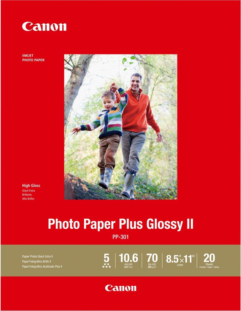 """Canon Photo Plus II High-Glossy Photo 8.5"""" x 11.02"""" 20-Count Paper 1432C003"""