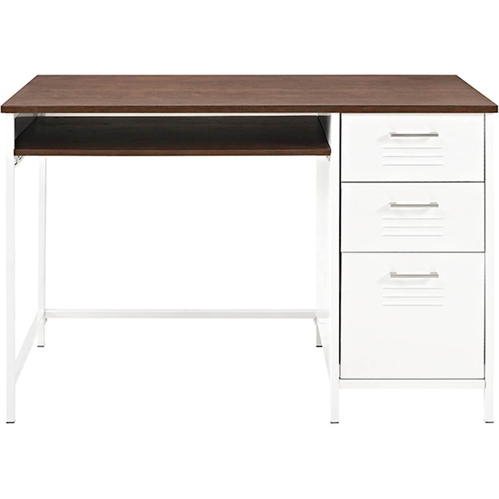 Walker Edison - Locker Style Computer Desk - White