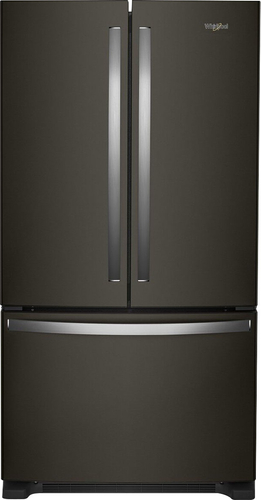 Whirlpool WRF535SWHV - Refrigerator/freezer - freestanding - width: 35.6 in - depth: 35.5 in - height: 70.1 in - 25.2 cu. ft - french style with ice & water dispenser - black stainless